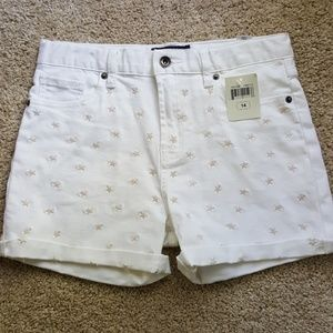 Lucky Brand Girls Jean Shorts Size 14 NEW